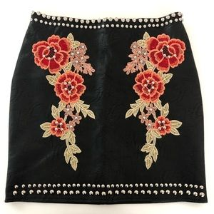Romeo Juliet Couture Faux Leather Studded Skirt S